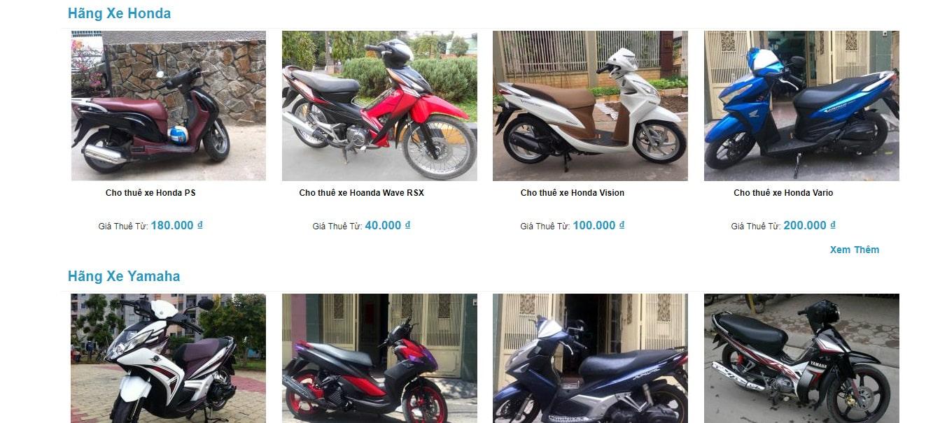 thuê xe máy tại quận tân bình